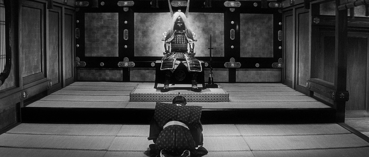 Hara-kiri is a film that questions the samurai warrior code of bushido. This is the suit of armour Hanshiro is drawn to when dying.